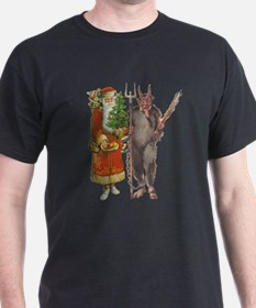 Krampus And Santa Claus Are Here T-Shirt