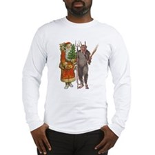 Krampus And Santa Claus Are Here Long Sleeve T-Shi