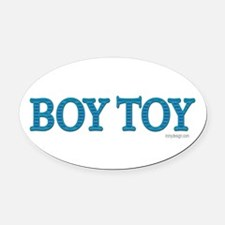 Boy Toy Oval Car Magnet