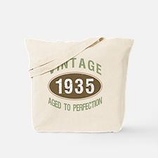 1935 Vintage Birth Year Tote Bag
