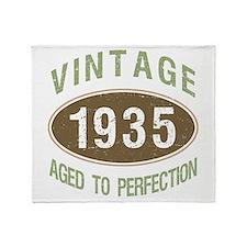 1935 Vintage Birth Year Throw Blanket