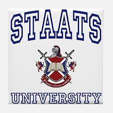 STAATS University Tile Coaster
