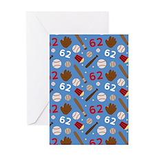 Baseball Number 62 Greeting Card