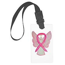 Pink Ribbon Angel Luggage Tag