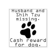 Husband And Shih Tzu Missing Sticker