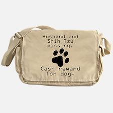 Husband And Shih Tzu Missing Messenger Bag