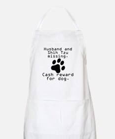 Husband And Shih Tzu Missing Apron