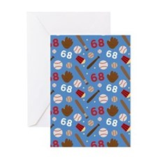 Baseball Number 68 Greeting Card