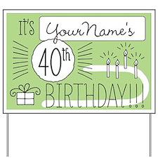 Custom 40th Birthday Yard Sign