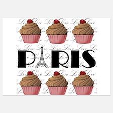 Paris Cupcakes Invitations