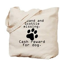 Husband And Scottie Missing Tote Bag