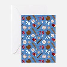 Baseball Number 78 Greeting Card
