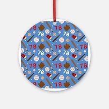 Baseball Number 78 Ornament (Round)