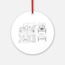 Model T Blueprints Ornament (Round)