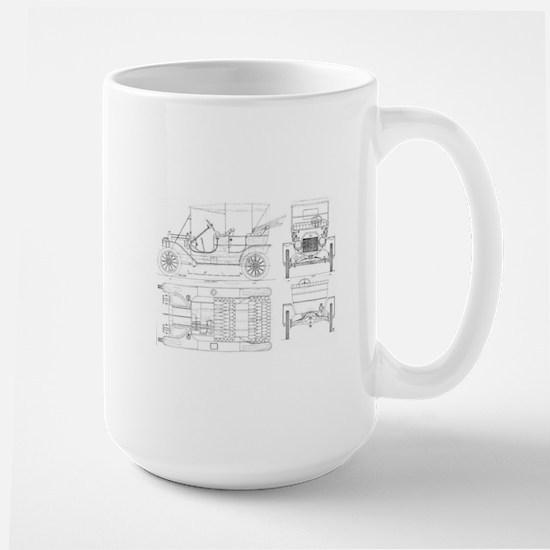 Model T Blueprints Mugs