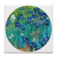 Van Gogh Garden Irises Tile Coaster
