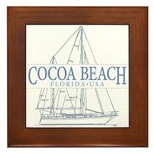 Cocoa Beach - Framed Tile