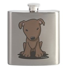 Red Pit Bull Flask