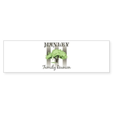 MANLEY family reunion (tree) Bumper Sticker