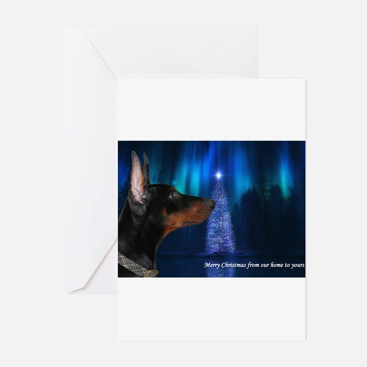 Cute Doberman christmas Greeting Cards (Pk of 20)