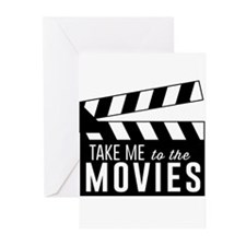 Take me to the movies Greeting Cards