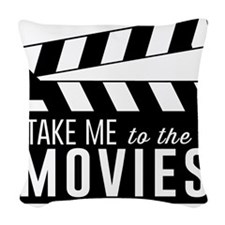 Take me to the movies Woven Throw Pillow