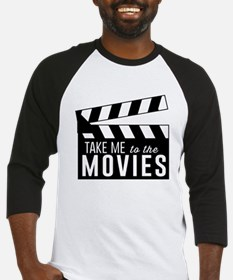 Take me to the movies Baseball Jersey
