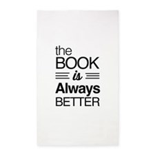 The book is always better 3'x5' Area Rug