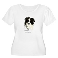 I love my Border Collie Pet Dog Plus Size T-Shirt