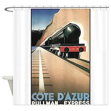 Cote d'Azur, Train, Pullman Express,Vintage Poster