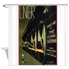 The Flying Scotsman, Train, Vintage Poster Shower