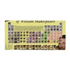 ShakespearePeriodicTable Beach Towel
