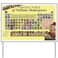 ShakespearePeriodicTable Yard Sign