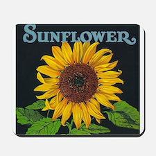 Sunflower Vintage Art Poster Mousepad
