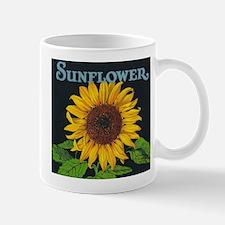 Sunflower Vintage Art Poster Mugs