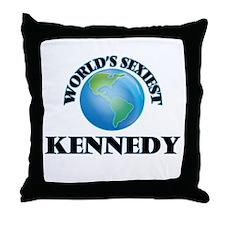 World's Sexiest Kennedy Throw Pillow