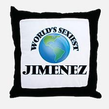 World's Sexiest Jimenez Throw Pillow