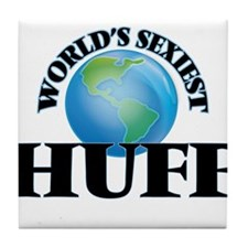 World's Sexiest Huff Tile Coaster