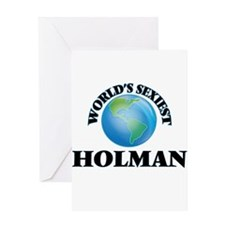World's Sexiest Holman Greeting Cards