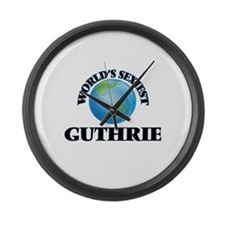 World's Sexiest Guthrie Large Wall Clock
