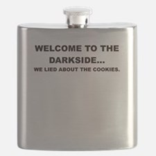 WELCOME TO THE DARKSIDE Flask