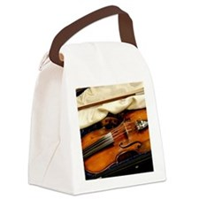 Violin Canvas Lunch Bag