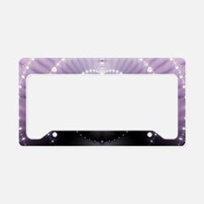 Purple Space License Plate Holder