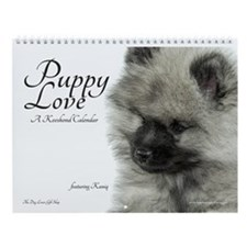 Keeshond Puppy Quotes Wall Calendar