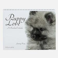 Keeshond Puppy Wall Calendar
