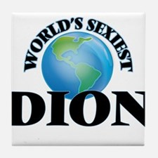 World's Sexiest Dion Tile Coaster