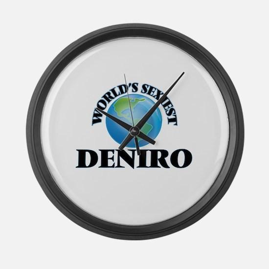 World's Sexiest Deniro Large Wall Clock
