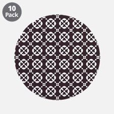"Abstract Graphic Tile Patter 3.5"" Button (10 pack)"