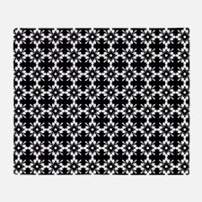 Abstract Graphic Tile Pattern Throw Blanket