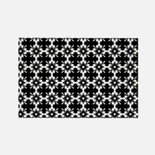 Abstract Graphic Tile Pattern Rectangle Magnet
